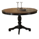Hillsdale Embassy Round Pedestal Dining Table in Rubbed Black 4808-812/813