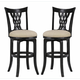 Hillsdale Embassy Swivel Bar Stool in Rubbed Black (Set of 2) 4808-832