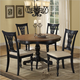 Hillsdale Embassy 5pc Round Pedestal Dining Room Set in Rubbed Black
