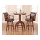 Hillsdale Palm Springs 3 Piece Bar Dining Set in Medium Brown Cherry