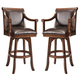Hillsdale Palm Springs Swivel Counter Stool in Medium Brown Cherry (Set of 2) 4185-826