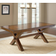 Hillsdale Park Avenue Trestle Dining Table in Dark Cherry 4692-812-3