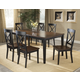 Hillsdale Englewood 7pc Rectangle Dining Room Set in Rubbed Black and Brown Cherry