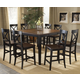 Hillsdale Englewood 9pc Rectangle Counter Dining Room Set in Rubbed Black and Brown Cherry