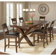Hillsdale Park Avenue 7 Piece Trestle Counter Height Dining Set in Dark Cherry