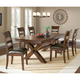 Hillsdale Park Avenue 7 Piece Trestle Dining Set in Dark Cherry