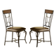 Hillsdale Granada Dining Chair in Dark Chestnut/Brown (Set of 2) 4702-803