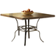 Hillsdale Granada Square Dining Table in Dark Chestnut/Brown 4702-812/813
