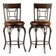 Hillsdale Granada Swivel Counter Stool in Dark Chestnut/Brown (Set of 2) 4702-826