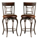 Hillsdale Granada Swivel Bar Stool in Dark Chestnut/Brown (Set of 2) 4702-830
