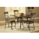 Hillsdale Granada 5pc Square Dining Room Set in Dark Chestnut/Brown