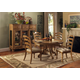 Hillsdale Hamptons 5pc Round Dining Room Set in Weathered Pine