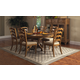 Hillsdale Hamptons 7pc Round Dining Room Set in Weathered Pine