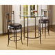 Hillsdale Parkside 3 Piece Bar Height Bistro Set  in Antique Pewter