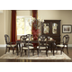Hillsdale Grandover 7pc Large Extension Trestle Rectangle Dining Set in Dark Cherry