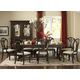 Hillsdale Grandover 9pc Large Extension Trestle Rectangle Dining Set in Dark Cherry