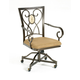 Hillsdale Brookside Oval Caster Chair in Brown Powder Coat (Set of 2) 4815-804