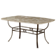 Hillsdale Brookside Rectangle Dining Table in Brown Powder Coat 4815-814/815