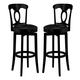 Hillsdale Plainview Corsica Swivel Bar Stool in Black (Set of 2) 4168-832