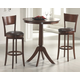 Hillsdale Plainview 3 Piece Archer Bistro Dining Set in Brown