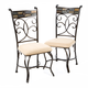 Hillsdale Pompei Side Dining Chairs in Black/ Gold (Set of 2) 4442-802