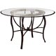 Hillsdale Pompei Dining Table in Black/ Gold 4442-810-1