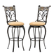 Hillsdale Pompei Swivel Counter Stool in Black/ Gold (Set of 2) 4442-826