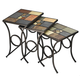 Hillsdale Pompei Nesting Tables in Black/ Gold Set of 3 61713