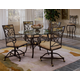 Hillsdale Pompei 5 Piece Caster Dining Set in Black/ Gold