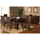 Hillsdale Simply Sydney 7 Piece Dining Set in Smoked Brown