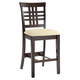 Hillsdale Tiburon Non Swivel Counter Stool in Espresso (Set of 2) 4917-806