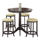 Hillsdale Tiburon Counter Height Bistro Table with 4 Backless Stools in Espresso 4917-845