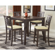 Hillsdale Tiburon 5 Piece Counter Height Fix Top Dining Set in Espresso