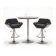 Hillsdale Valencia 3 Piece Bar Set in Black/ Oyster Gray