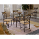 Hillsdale Pompei 5 Piece Dining Set in Black/ Gold
