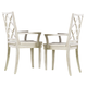 Hooker Furniture Sunset Point X Back Arm Chair in Hatteras White (Set of 2) 5325-75300