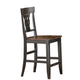 Hillsdale Englewood Ribbon Back Non-Swivel Counter Stool in Rubbed Black and Brown Cherry (Set of 2) 4884-824