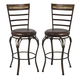 Hillsdale Westridge Swivel Bar Stool in Dark Bronze (Set of 2) 5203-831