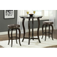 Hillsdale Wilmington 3 Piece Round Bar Height Dining Set in Cappuccino
