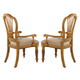 Hillsdale Wilshire Dining Arm Chair in Antique Pine (Set of 2)  4507-805