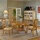 Hillsdale Wilshire 5 Piece Round Dining Set in Antique Pine
