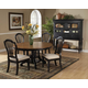 Hillsdale Wilshire 5 Piece Round Dining Set in Rubbed Black