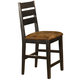 Hillsdale Killarney Ladder Back Non-Swivel Counter Stool in Black / Antique Brown (Set of 2) 5381-823