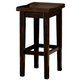 Hillsdale Killarney Backless Counter Stool in Black / Antique Brown (Set of 2) 5381-822