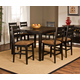 Hillsdale Killarney 5pc Counter Height Dining Set in Black/Antique Brown