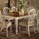 Hillsdale Wilshire Rectangular Dining Table in Antique White 4508-819