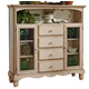 Hillsdale Wilshire Baker's Cabinet in Antique White 4508-854
