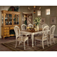 Hillsdale Wilshire 7 Piece Rectangular Dining Set in Antique White