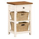 Hillsdale Tuscan Retreat™ Two Basket, One Drawer Open Side Stand in Country White 5465-940W