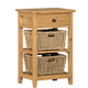 Hillsdale Tuscan Retreat™ Two Basket, One Drawer Open Side Stand in LIght Weathered Pine 4443-940W